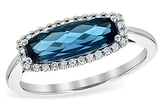 B227-23074: LDS RG 1.79 LONDON BLUE TOPAZ 1.90 TGW
