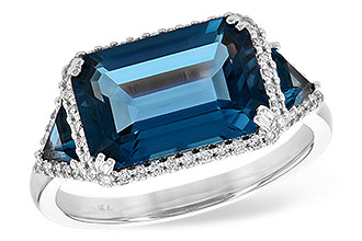 D227-20310: LDS RG 4.60 TW LONDON BLUE TOPAZ 4.82 TGW