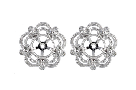 F222-67628: EARRING JACKETS .16 TW (FOR 0.75-1.50 CT TW STUDS)