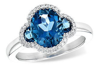 G227-23964: LDS RG 3.04 TW LONDON BLUE TOPAZ 3.20 TGW
