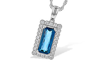 L227-25737: NECK 1.55 LONDON BLUE TOPAZ 1.70 TGW