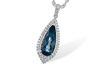 B226-30283: NECK 2.40 LONDON BLUE TOPAZ 2.65 TGW