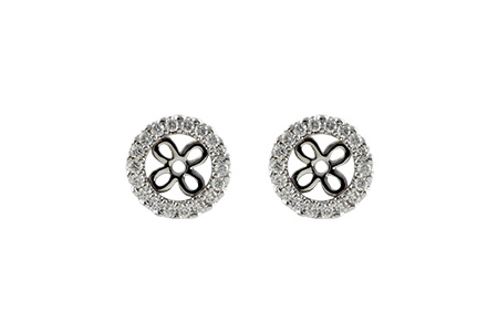F224-49374: EARRING JACKETS .24 TW (FOR 0.75-1.00 CT TW STUDS)