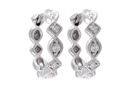 H038-09364: EARRINGS .22 TW