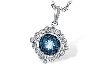 L226-30319: NECK .98 BLUE TOPAZ 1.10 TGW
