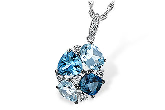 M226-28455: NECK 2.60 BLUE TOPAZ 2.70 TGW